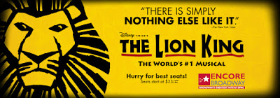 The Lion King Banner the world's #1 Musical There is simply nothing else like it