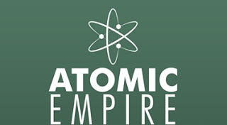 Atomic Empire Sign with Atom logo