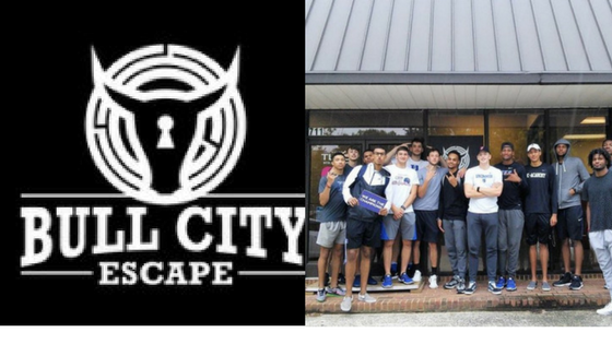 Bull City Escape logo and Duke Men's Basketball Team