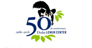1966-2016 50th Anniversary of Duke Lemur Center with rendering of a lemur