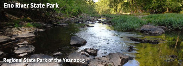Eno River State Park river with rocks Regional State Park of the Year 2015