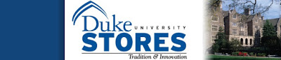 Duke University Stores sign with picture of campus buildings