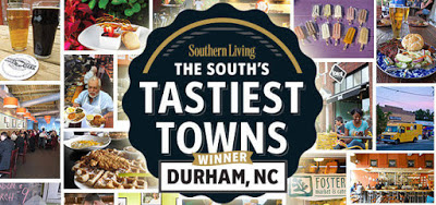 Logo Southern Living The South's Tastiest Towns Winner Durham, NC