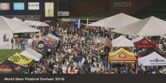 World Beer Festival Durham 2016 with tents and crowd
