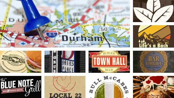 Durham City Map, 10 Bars in Durham, North Carolina