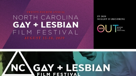 2019 NC Gay and Lesbian Film Festival Logo Becoming Outsouth Queer Film Festival in 2020