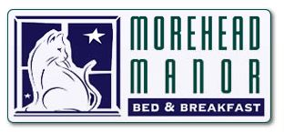 Morehead Manor Bed & Breakfast Logo with Cat in the window