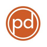 "Preservation Durham Logo ""pd"" in a circle"